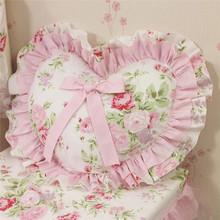 Sunny Korean Princess Heart shaped cushion pillow case pillow cover
