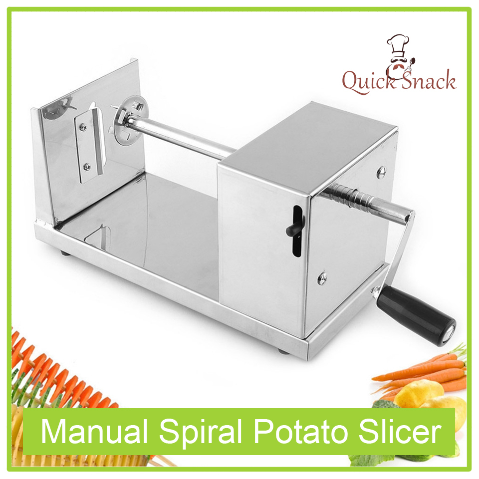 New Stainless Steel Manual Spiral Potato Chips Twister Slicer Vegetable Cutter(China (Mainland))