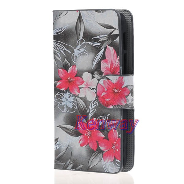 S shock Leather Wallet Cover Stand Card Case For LG L70 Book Style Leather Case For LG L70 Case(China (Mainland))