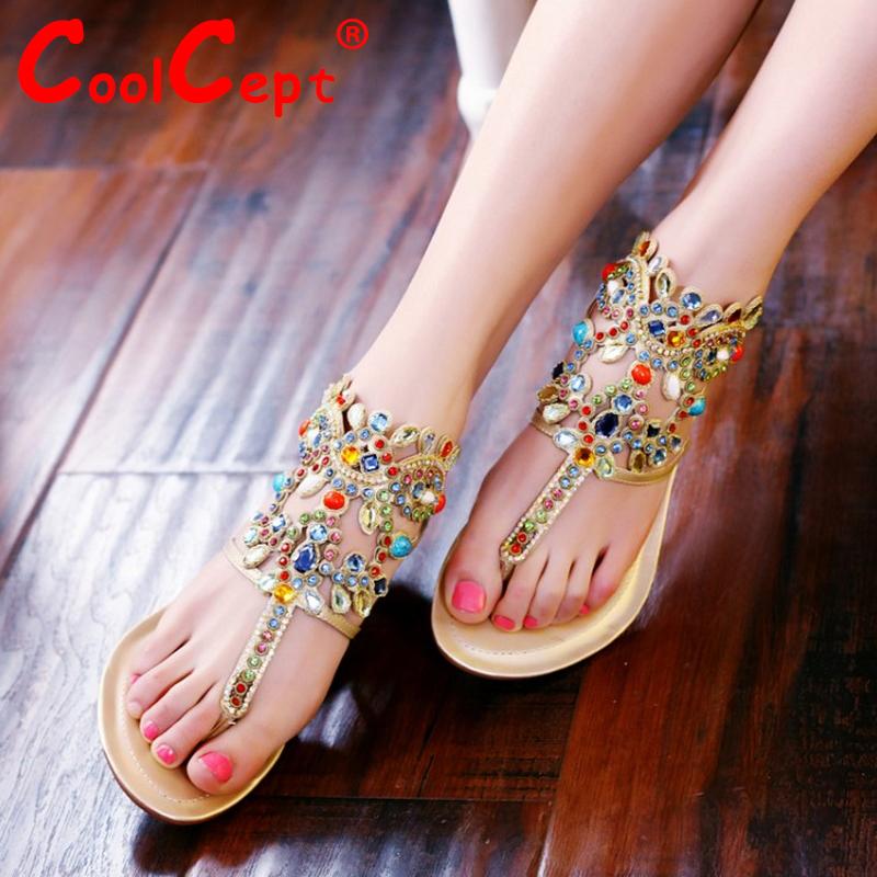 CooLcept free shipping genuine leather quality flat sandals women fashion platform heels sandal R4465 EUR size 34-43<br><br>Aliexpress