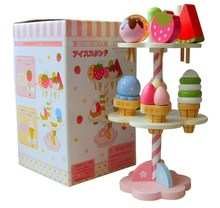Baby Toys Simulation Magnetic Ice Cream Wooden Toys Set Pretend Play Kitchen Food Baby Infant Toys Food Birthday/Christmas Gift(China (Mainland))