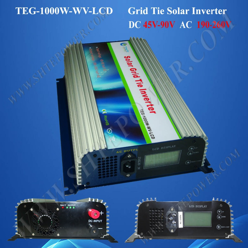 grid tie solar micro inverter 1000w grid tie power inverter dc to ac with lcd inverter(China (Mainland))