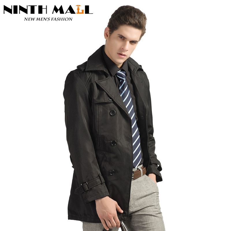 jacket long trench coat men double breasted slim military trench coat outerwear casual overcoat. Black Bedroom Furniture Sets. Home Design Ideas