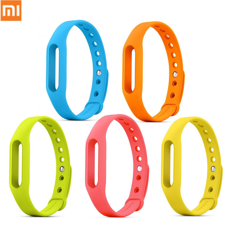 100% Original Xiaomi Band Bracelet Silicon Strap For Xiaomi Mi Band 1S