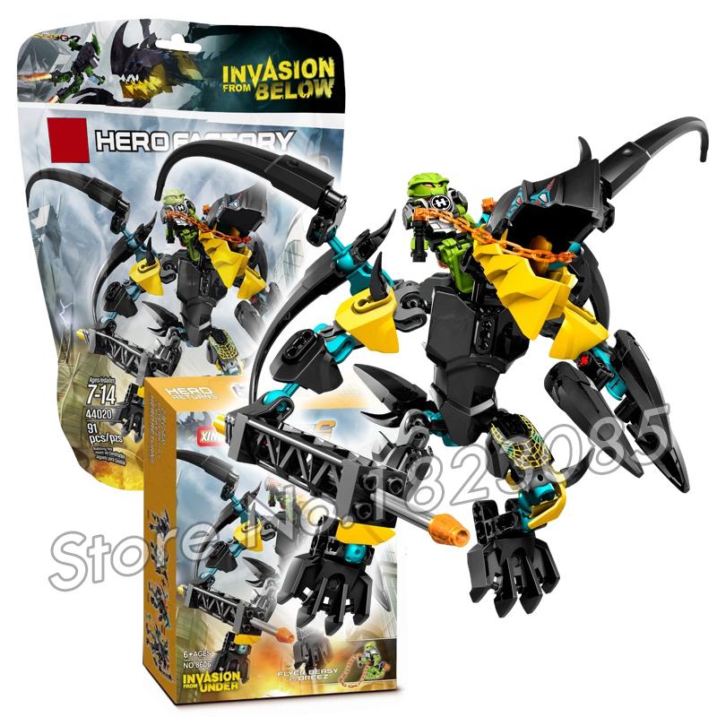 91pcs Bela 2016 Hero Factroy FLYER Beast vs. BREEZ Model Building Bricks Minifigure Action Figure Toys Compatible With Lego(China (Mainland))