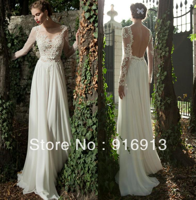 Wedding Dress Long Sleeve Backless : Bridal winter long sleeve wedding dresses in from