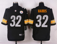 Pittsburgh Steelers #12 Terry Bradshaw Elite White and Black Team Color high-quality free shipping(China (Mainland))