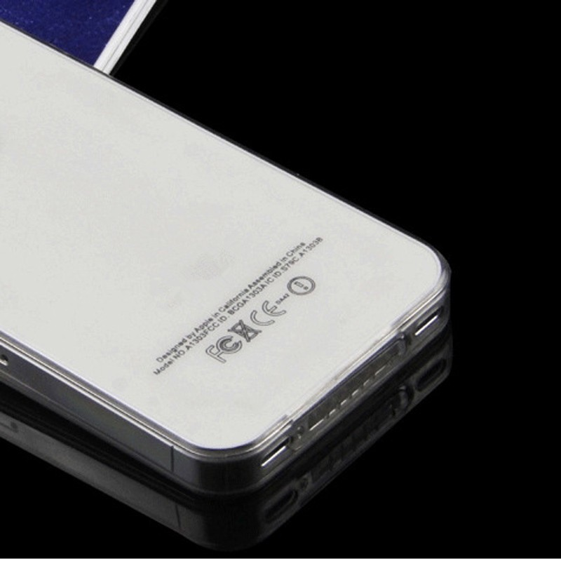 Original crystal clear Ultra thin slim soft TPU Case for iPhone 4 4S Transparent Black Soft Silicone back cover