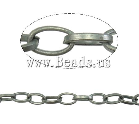 Free shipping!!!Iron Oval Chain,Famous Jewelry, Flat Oval, plated, nickel, lead & cadmium free, 6.40x12.40mm, Length:100 m