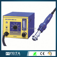 Hakko FR-801 SMD Rework Desoldering Station Solder Iron with Heat Hot air Gun ESD Tips BGA Hot Air Nozzles
