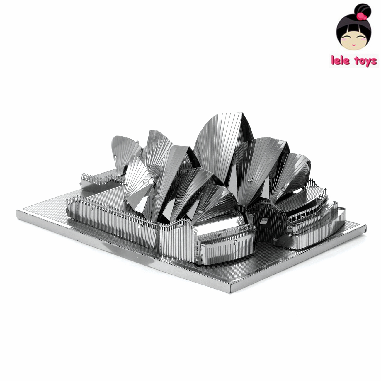 Construction Famous Buildings Over The World 3D Metal Model Puzzles SYDNEY OPERA HOUSE Chinese Metal Earth Stainless Steel(China (Mainland))