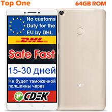 "Original Xiaomi Mi MAX Mobile Phone Snapdragon 652 Octa Core 3GB RAM 64GB ROM 6.44"" 4850mAh google play MIUI Fingerprint ID(China (Mainland))"