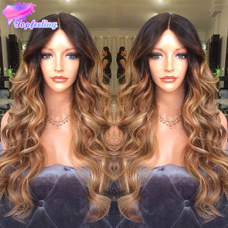 7A Brazilian Ombre Full Lace Wigs Human Hair Body Wave Glueless Lace Front Human Hair Wigs For Black Woman With Baby Hair Wigs