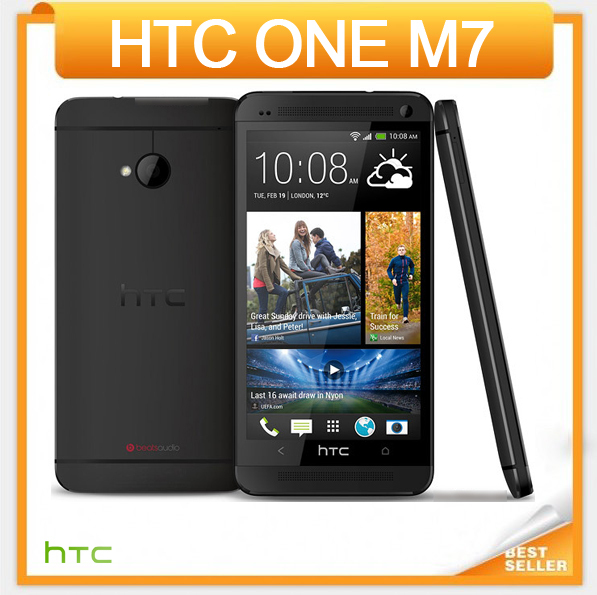 Original HTC ONE M7 801e Unlocked Mobile phone Quad-core 4.7''TouchScreen Android GPS WIFI 2GB RAM 32GB ROM Free Shiping(China (Mainland))