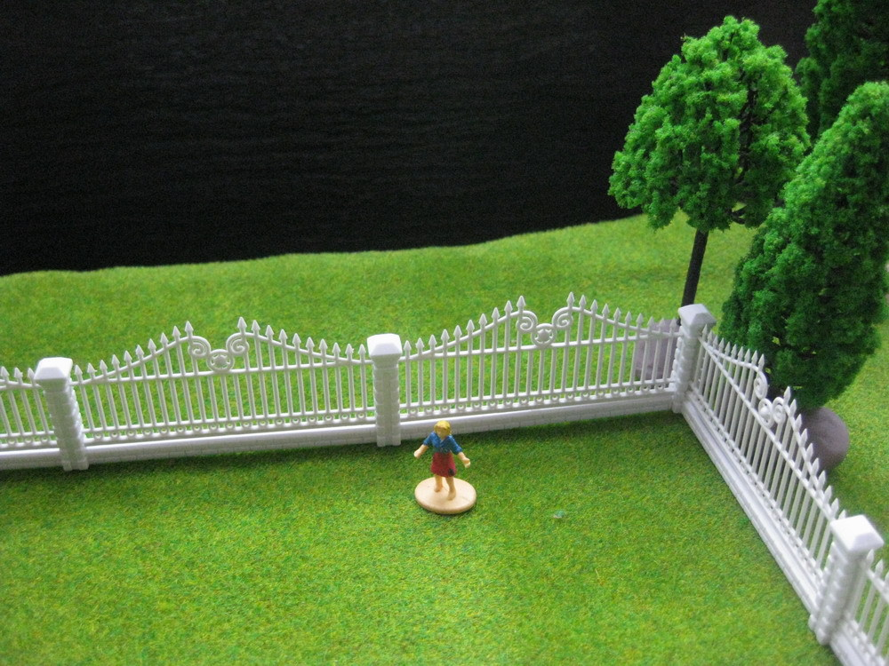 LG10002 1 Meter Model Railway Building Fence Wall 1:87 HO OO Scale NEW(China (Mainland))