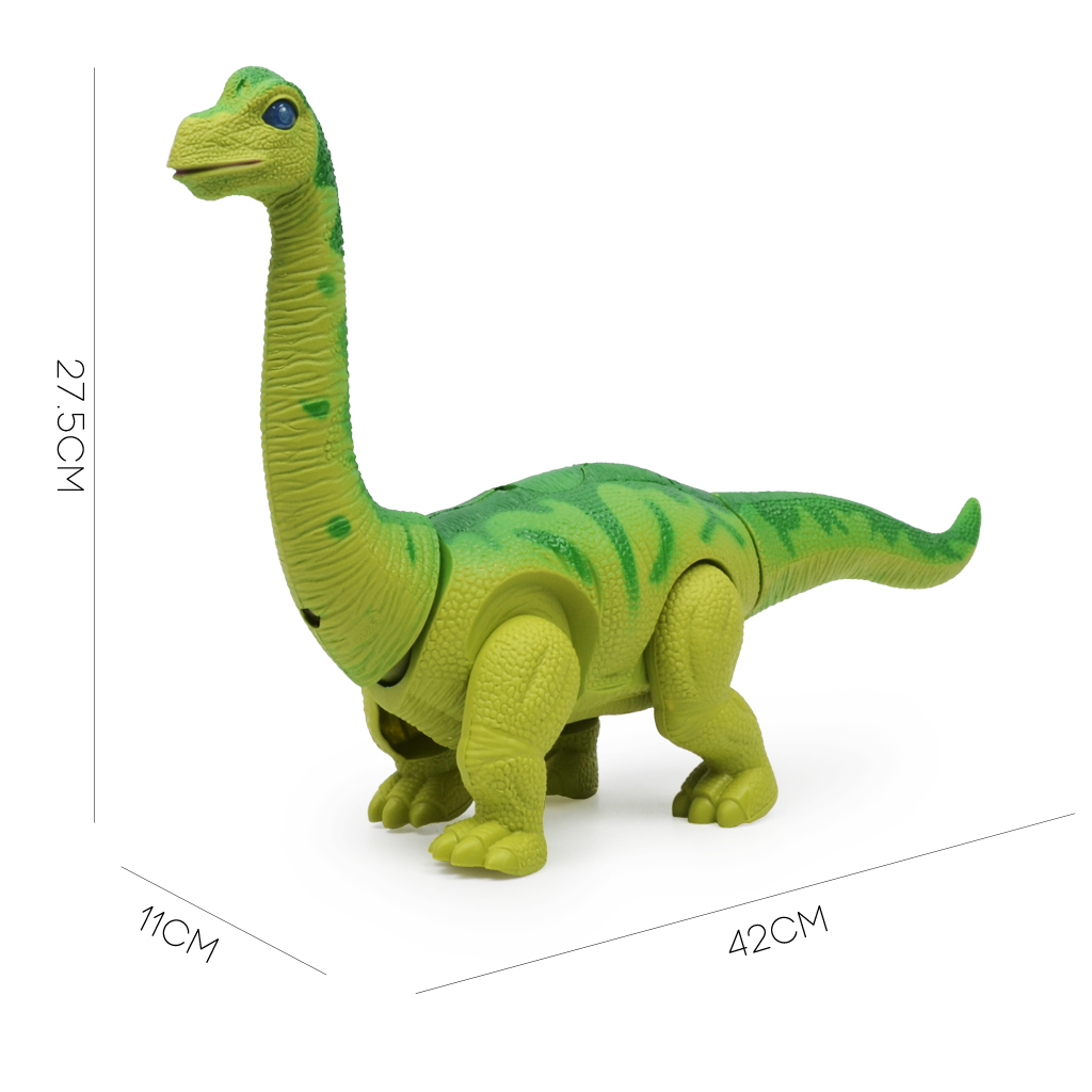 Battery Operated Walking Toy Dinosaur Brachiosaurus Egg Laying Action Figure Toys for Kids Xmas Birthday Gift Green