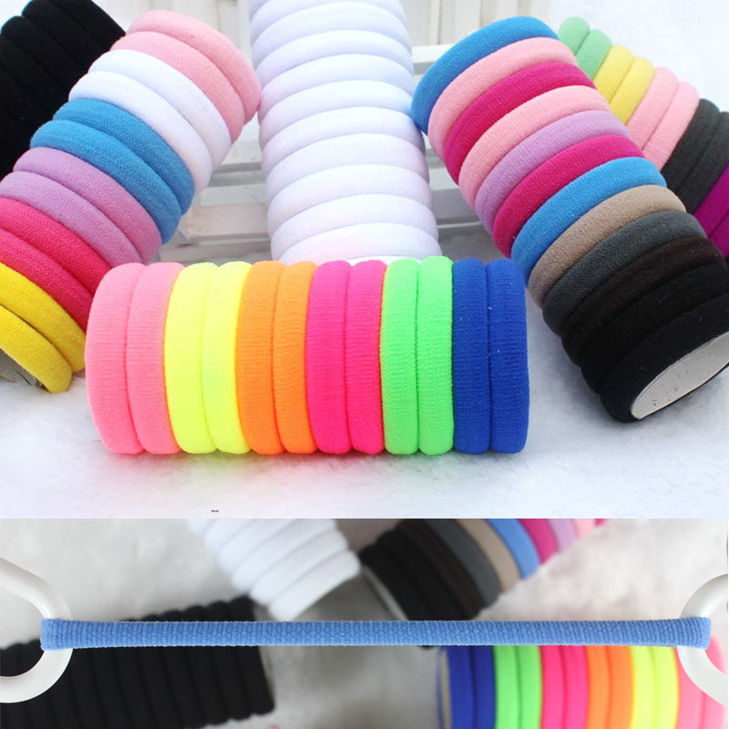 TS 10pcs/lot Candy Colored Hair Holders High Quality Rubber Bands Hair Elastics Accessories Girl Women Tie Gum (Mix Colors)(China (Mainland))