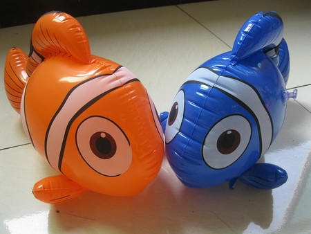 Free shipping (20pieces/lot) inflatable toy kids toys online shopping educational toys for kids inflatable fish(China (Mainland))