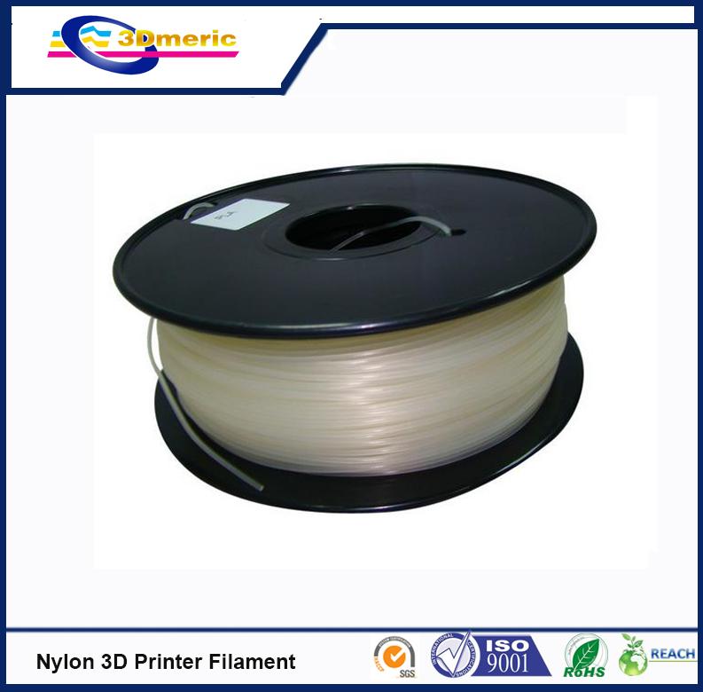 3D printer filament 1.75mm Nylon PA extruded engineering plastic natural colour 3D printer material(China (Mainland))