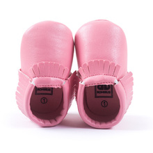 Free Shipping Tassels 26-Color PU Leather Baby Shoes 2015 Moccasin Newborn Shoes Soft Infants Crib Shoes Sneakers First Walker(China (Mainland))