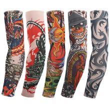 5pc cycling tribal print tattoo sleeves arm warmers Temporary sunscreen seam tattoo sleeve for fancy dress G2(China (Mainland))