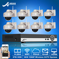 3TB HDD 8CH NVR Video Surveillance System Onvfi H 264 1080P HD 25fps Vandalproof Dome IR