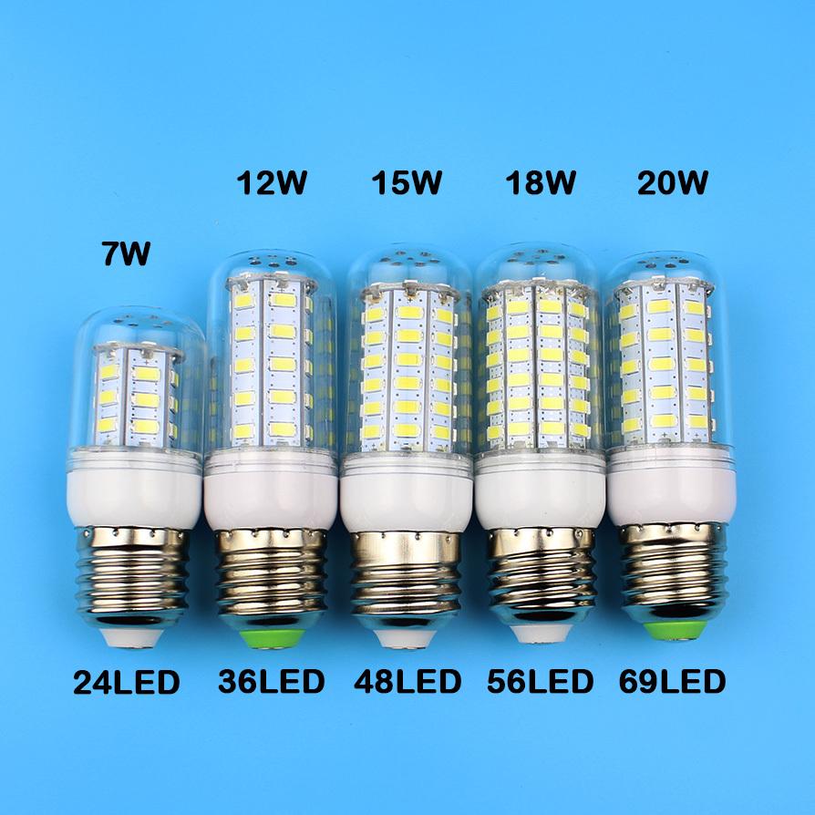 E27 LED e14 Led Lamps 5730 220V 7W 12W 15W 18W 20W LED Corn Led Bulb Christmas Chandelier Candle Lighting(China (Mainland))