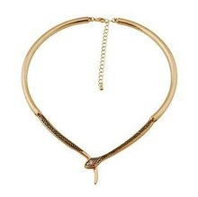 Whole Sale!! Gold snake choker collar necklacejewelry Free shipping  (N1144)(China (Mainland))
