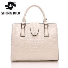 High Quality 100 Genuine Leather Women Handbags Classic Aligator HandbagsFor Women Fashion Brand Brief Lady s