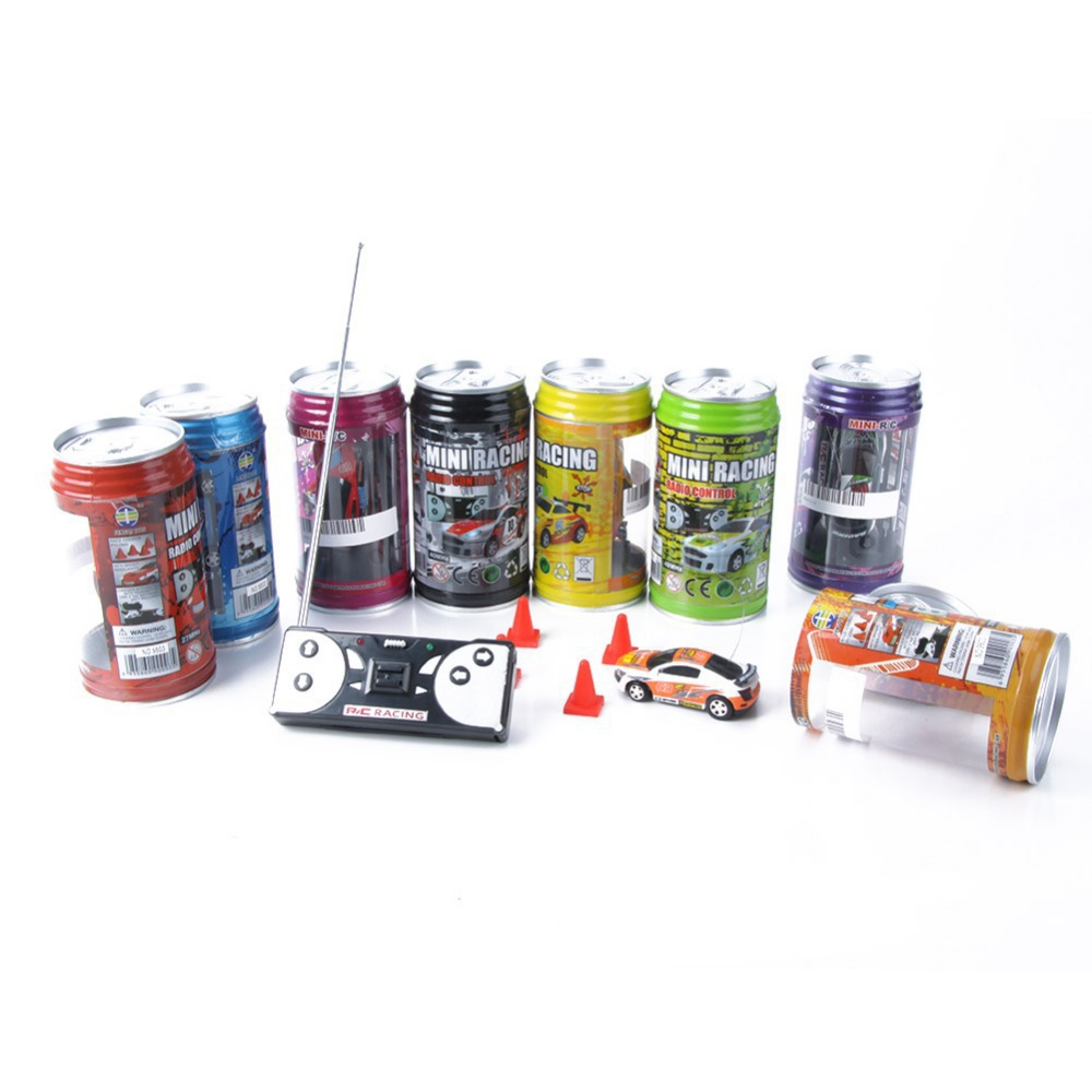 Free Shipping Electronic New Baby Boy Coke Can Mini Speed RC Radio Remote Control Micro Racing Car Toys For Children Brinquedos(China (Mainland))