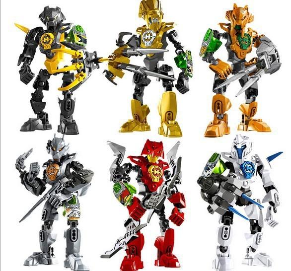 6pcs/lot Decool 96B(9601/2/3/4/5/6)Hero Factory 3.0 for legoe STRINGER/STORMER/ROCKA/NEX/AULK/FRNO Mini Figure block toys(China (Mainland))