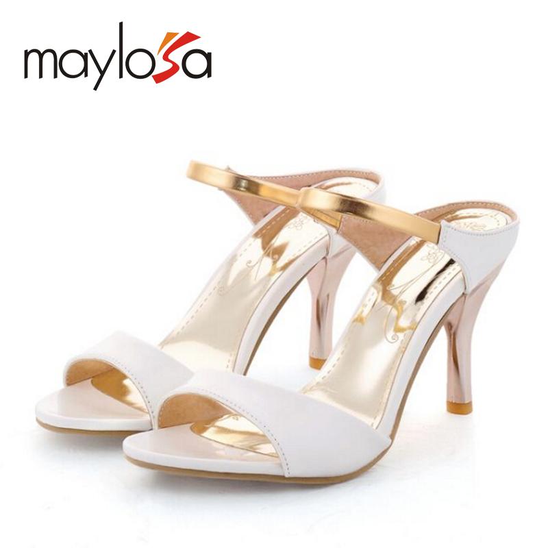 Big size 34-43 Women Sandals Sexy High Heels Flip Flops Gladiator Open Toe Less Platform Summer Shoes Outdoor Beach Sandals