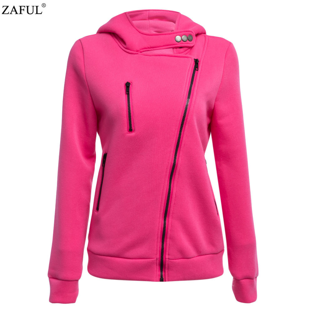ZAFUL 4 color 2016 New Autumn&winter Women Cotton Hoodies V-Neck Long Sleeve Hoodies With Cat Warm cardigans Female Sweatshirts (2)