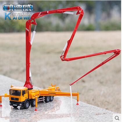 Kaidi Wei 1:55 alloy car model cement truck concrete pump metal children's toys(China (Mainland))