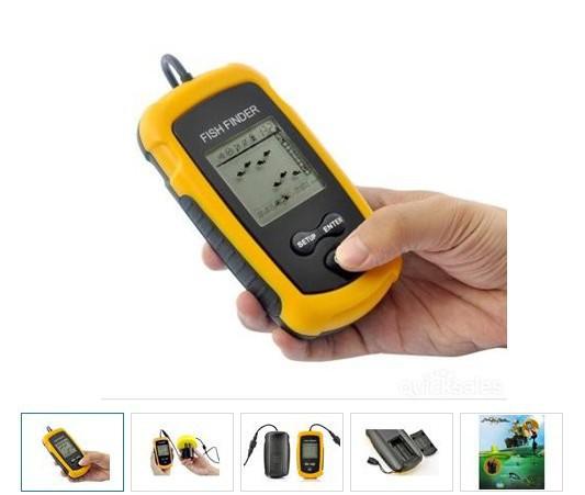 Portable Fish Finder Depth Sonar Sounder Alarm Transducer Fishfinder 100m Fishing Bait Tool(China (Mainland))