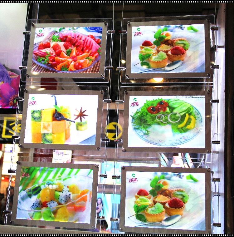 Real estate agent/ restaurant window displays led illuminated signs light box3 row x3 A3 Landscape(China (Mainland))