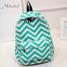 Korean Style Designer Striped Zipper Canvas Backpack Teen girls school bags Large travel laptop female backpacks mochilas women(China (Mainland))