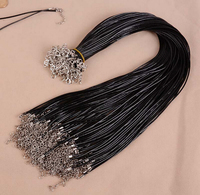 20pcs Black Pendant Jewelry Cord Wire Necklace Craft Accessaries Wholesale