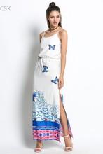 Buy 2016 Casual Sundress Sleeveless High Waist Print Summer Beach Dresses Sexy Spaghetti Strap Side Slit Party Dress Vestido u2 for $11.09 in AliExpress store