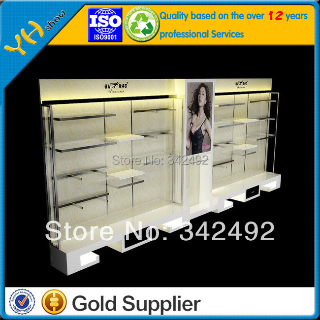 wooden clothes showcase cabinet ,Cosmetic showcase cabinet , clothes display stands Xc-035(China (Mainland))