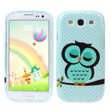 Unique Cute Owl Design Soft TPU Case Cover for Samsung Galaxy S3 III i9300  Snow(China (Mainland))
