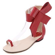 2015 Fashion Women Sandals with Bowtie Sexy Flat Heel Flip Flops Women Shoes Summer style Sandal Women Sapato Feminino   (China (Mainland))