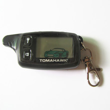 New LCD Remote For Tomahawk TW9010 Tomahawk 9010 Two way car alarm system Russian Tomahawk TW 9010 keychain(China (Mainland))