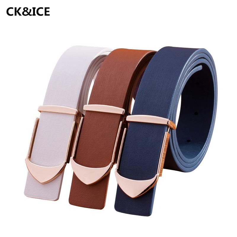 cheap designer belts mens rj4v  New 2017 Mens Brand Name Belts Simple Smooth Buckle Luxury Designer Belts  Men Fashion PU Leather