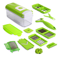 12 Pcs Multifunctional Shredder Fruit Vegetable Peeler Potatoes Slicer Dicer Chopper Cutter With Container Easy Kitchen