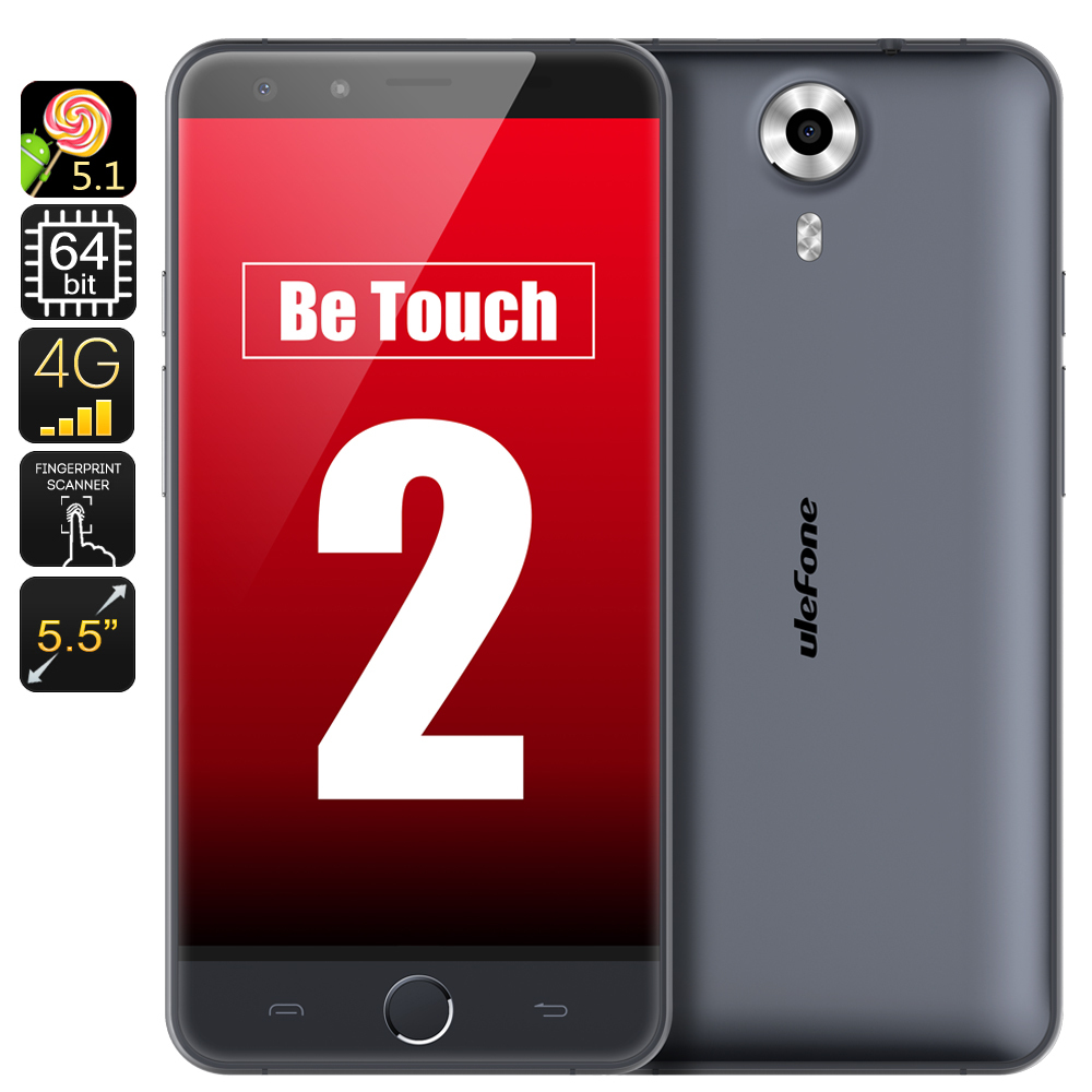 Original Ulefone Be Touch 2 Mobile Phone, LTE 4G Cell Phone, 64bit 1.7GHz CPU, 3GB RAM, 5.5 Inch HD, Android 5.1, 16GB ROM(China (Mainland))
