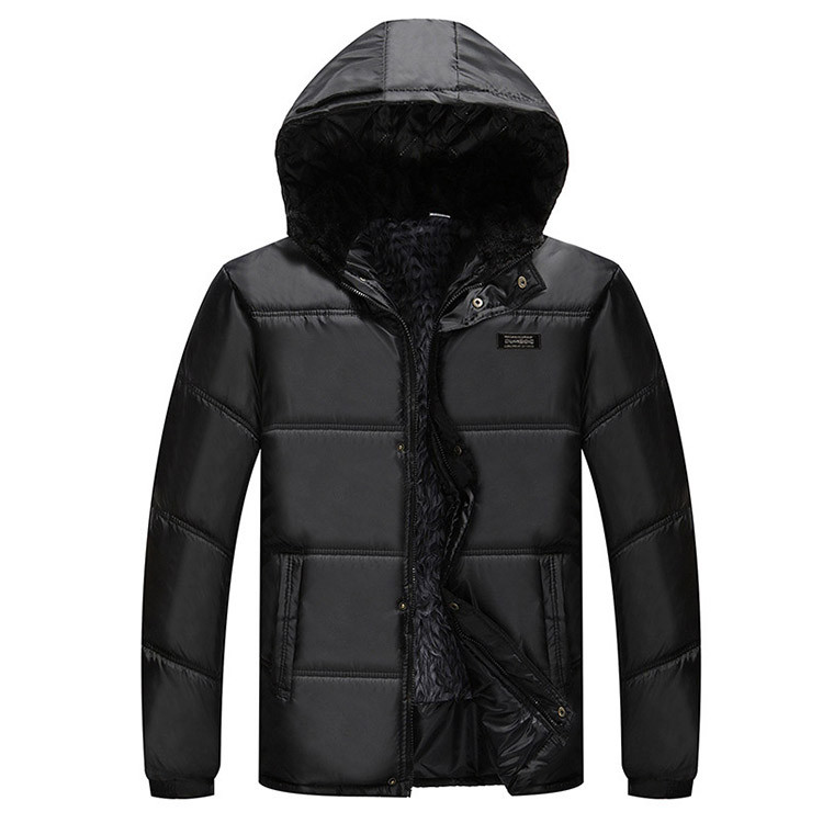 Fabrika Sevk Yün Astar Ördek Aşağı Mont Erkek Kış Sıcak Kapşonlu Aşağı Ceketler Parkas Casual Dış Giyim Kalınlaştırmak Markalı Mont