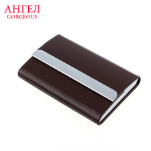 Luruxy Leather Business Credit Card Name Id Card Holder Case Wallet Credit Card Holder Leather Bag Passport Cover Card Holder(China (Mainland))