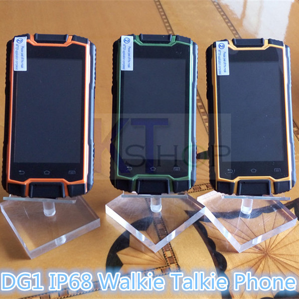 original DG1 ip68 waterproof cell phone rugged Android smartphone MTK6582 Dual core PTT Radio Walkie talkie 3G A8 A9 zug 3 S19(China (Mainland))