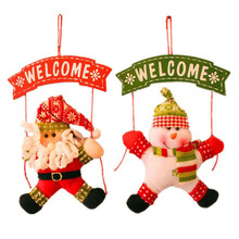 Santa Claus Snowman Tree Door Christmas Decoration For Home Ornament Decor Hanging Pendant Christmas FEN#(China (Mainland))